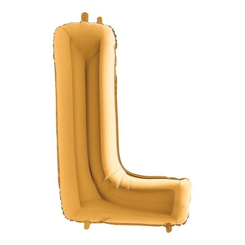 Grabo Balloons Balon złota litera L - 101 cm - Pan Talerzyk