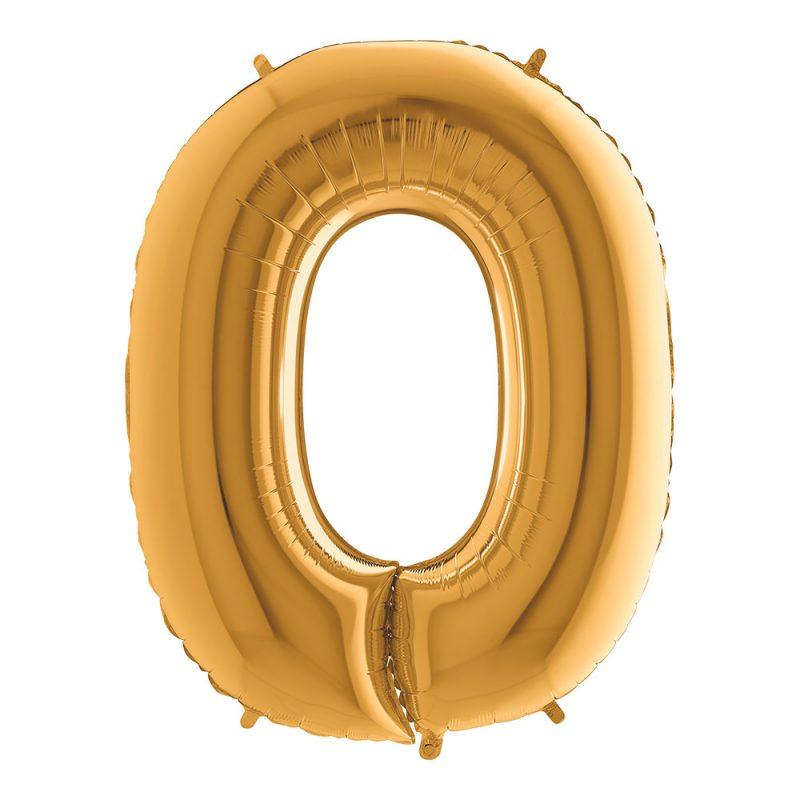 Grabo Balloons Balon złota litera O - 101 cm - Pan Talerzyk