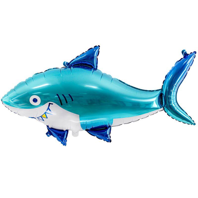PartyDeco Balon foliowy rekin 92 cm - Pan Talerzyk