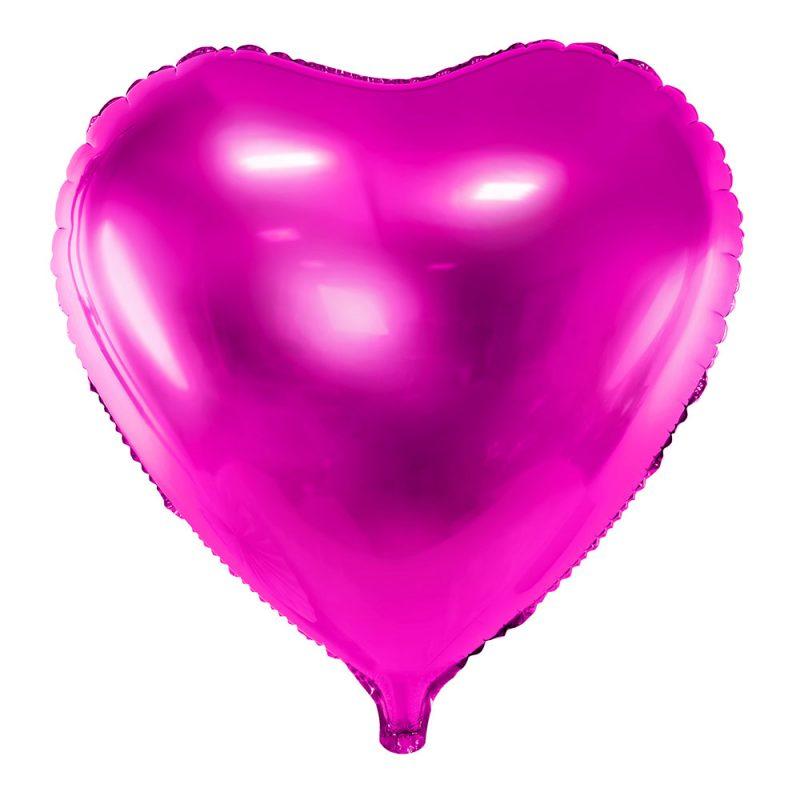 PartyDeco Balon foliowy serce ciemnoróżowy 45 cm - Pan Talerzyk
