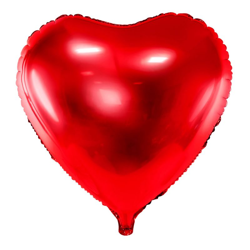 PartyDeco Balon foliowy serce czerwony 45 cm - Pan Talerzyk