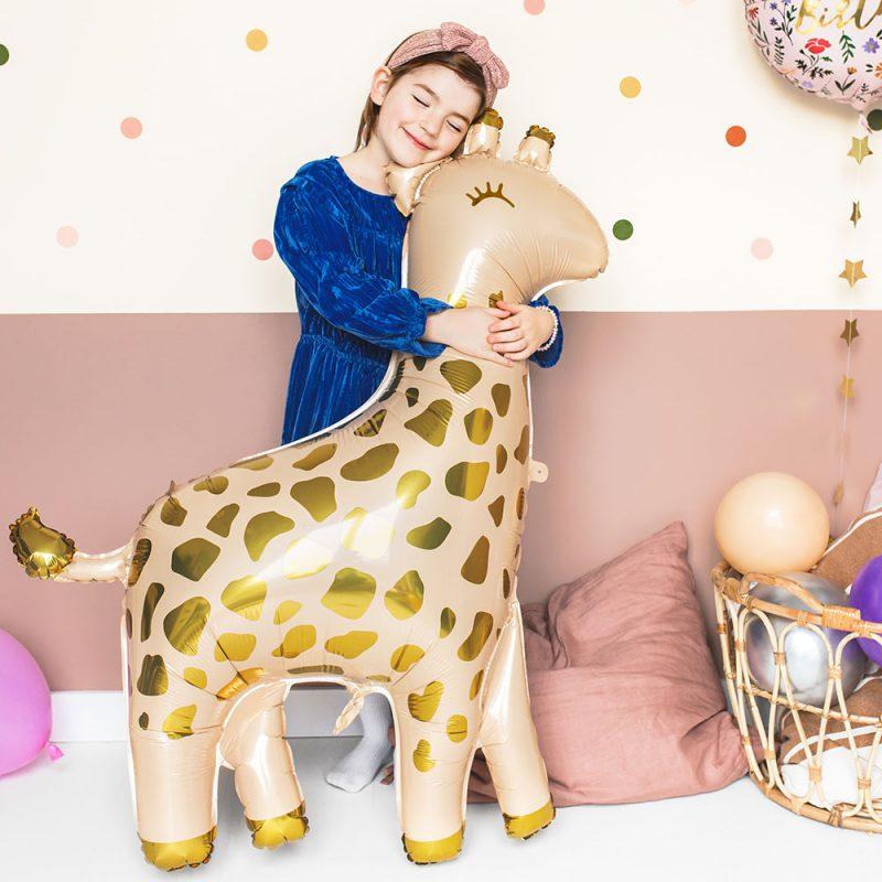 PartyDeco Balon foliowy żyrafa 80 cm - Pan Talerzyk
