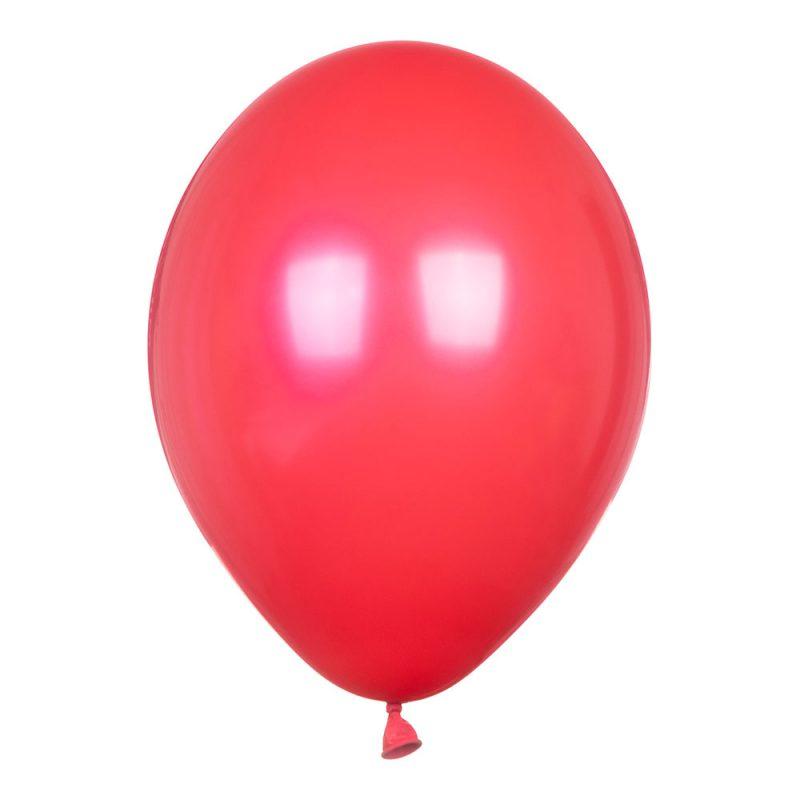 PartyDeco Balony czerwone pastelowe 30 cm - Pan Talerzyk