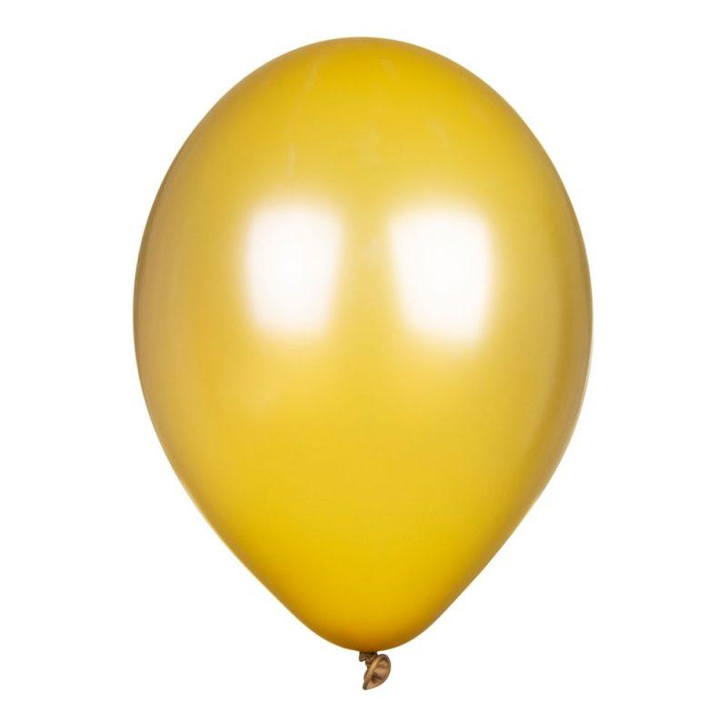 PartyDeco Balony złote metalik 30 cm - Pan Talerzyk