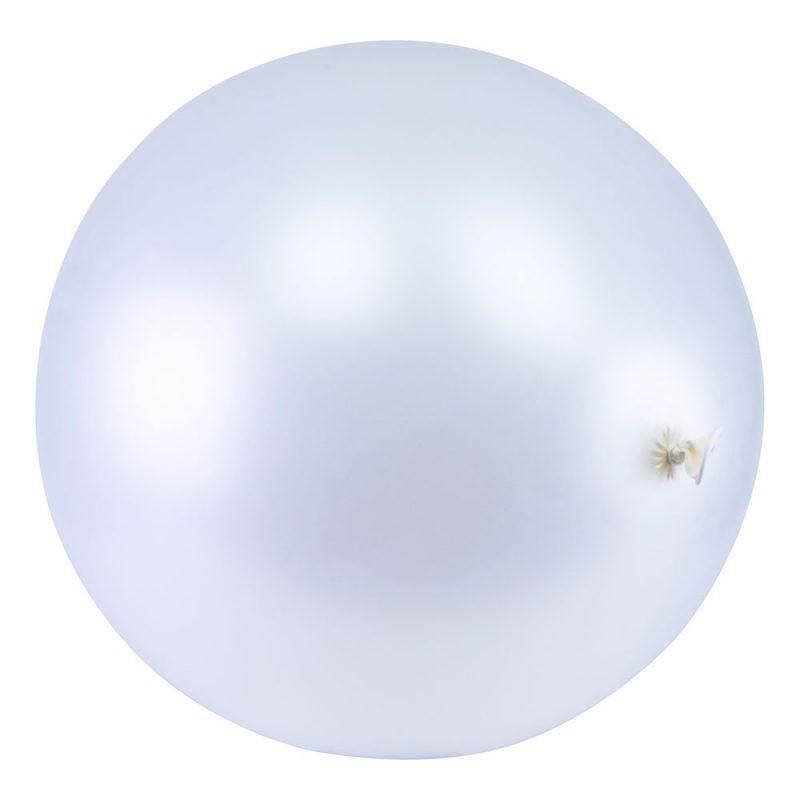 PartyDeco Balon metalik gigant 1 m - biały - Pan Talerzyk