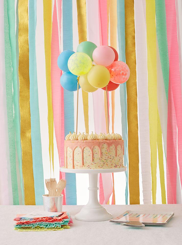 Meri Meri Balonowy topper na tort kolorowy - Pan Talerzyk