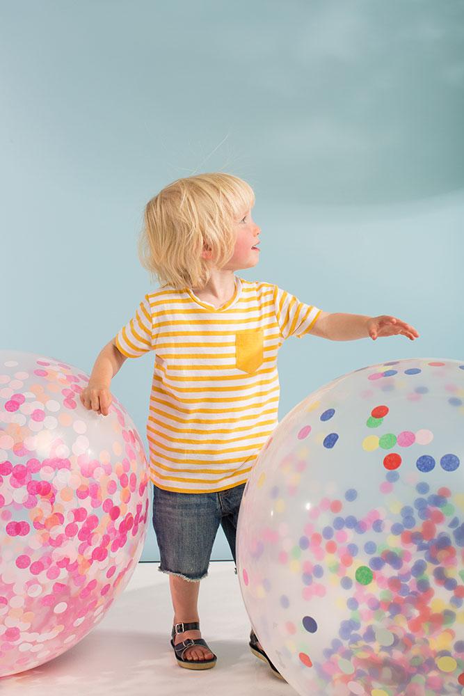 Meri Meri Balony giganty z różowym konfetti - 3 sztuki - Pan Talerzyk