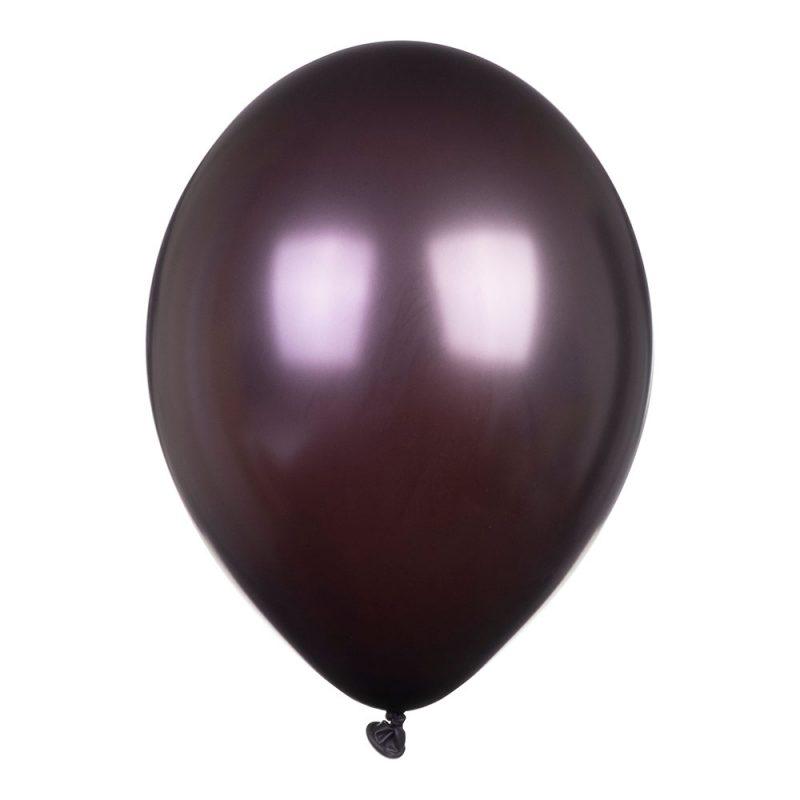 PartyDeco Balony metalik 30 cm - czekoladowe - Pan Talerzyk