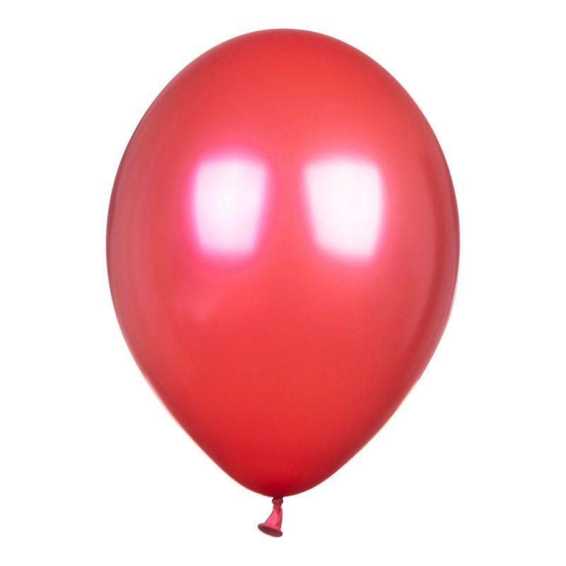 PartyDeco Balony metalik 30 cm - czerwone - Pan Talerzyk