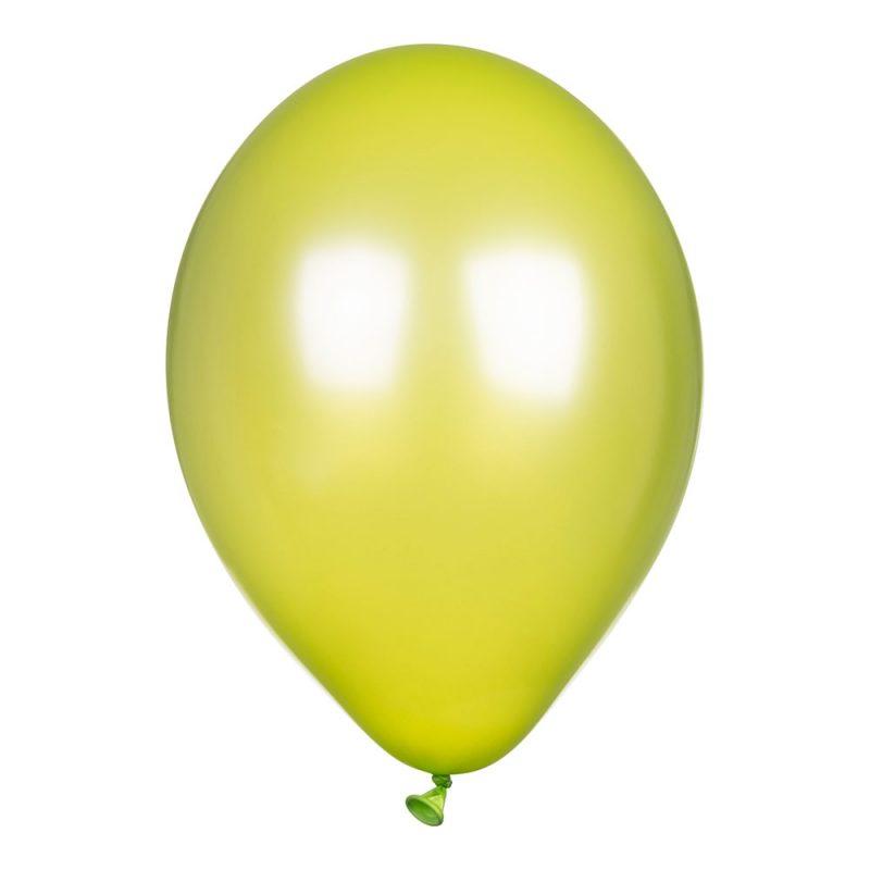 PartyDeco Balony metalik 30 cm - seledynowe - Pan Talerzyk