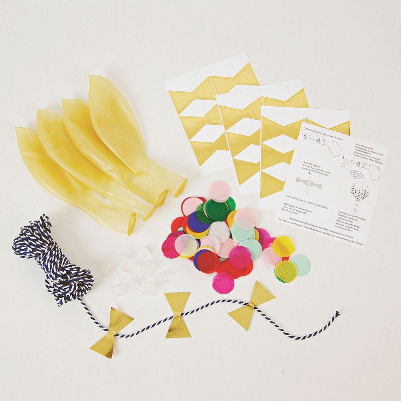 Meri Meri Balony z kolorowym konfetti - 8 sztuk - Pan Talerzyk