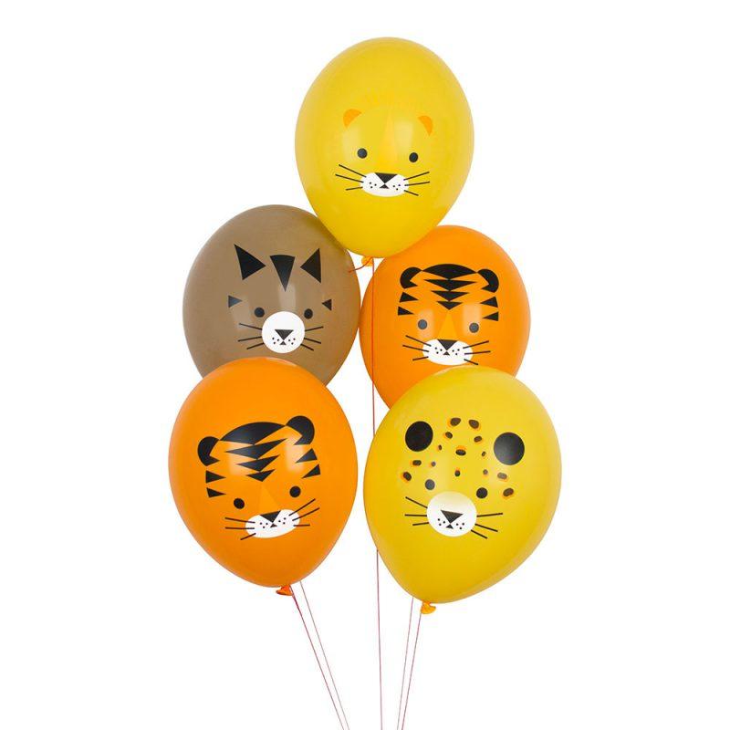 My Little Day Balony z nadrukiem safari - 5 sztuk - Pan Talerzyk