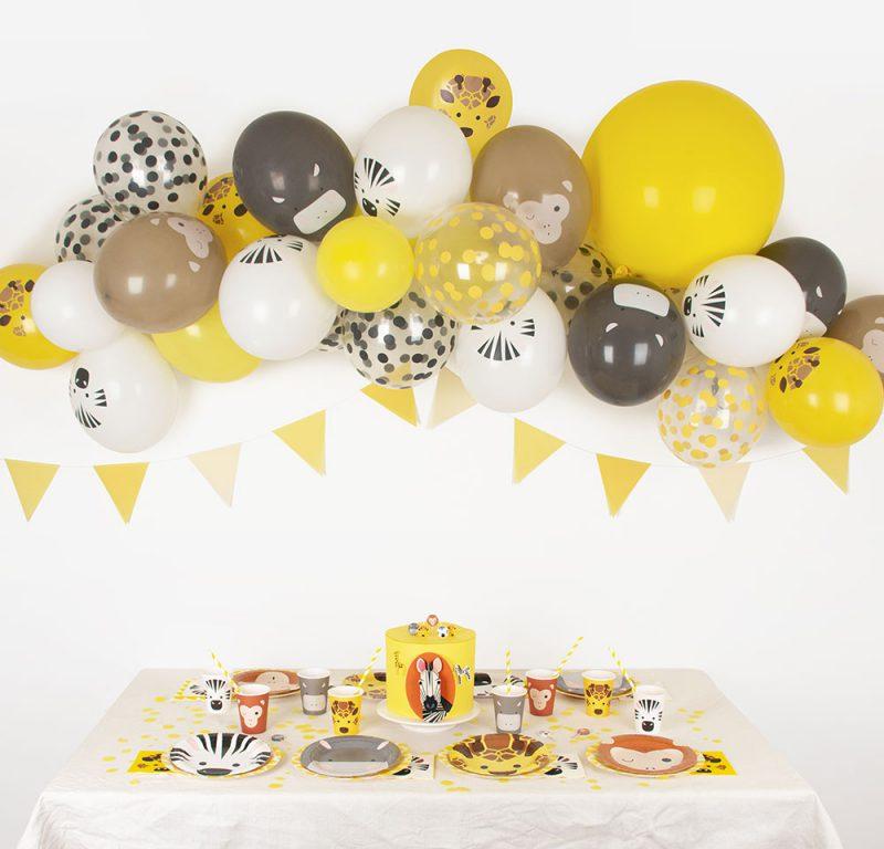 My Little Day Balony z nadrukiem zwierzęta safari - 5 sztuk - Pan Talerzyk