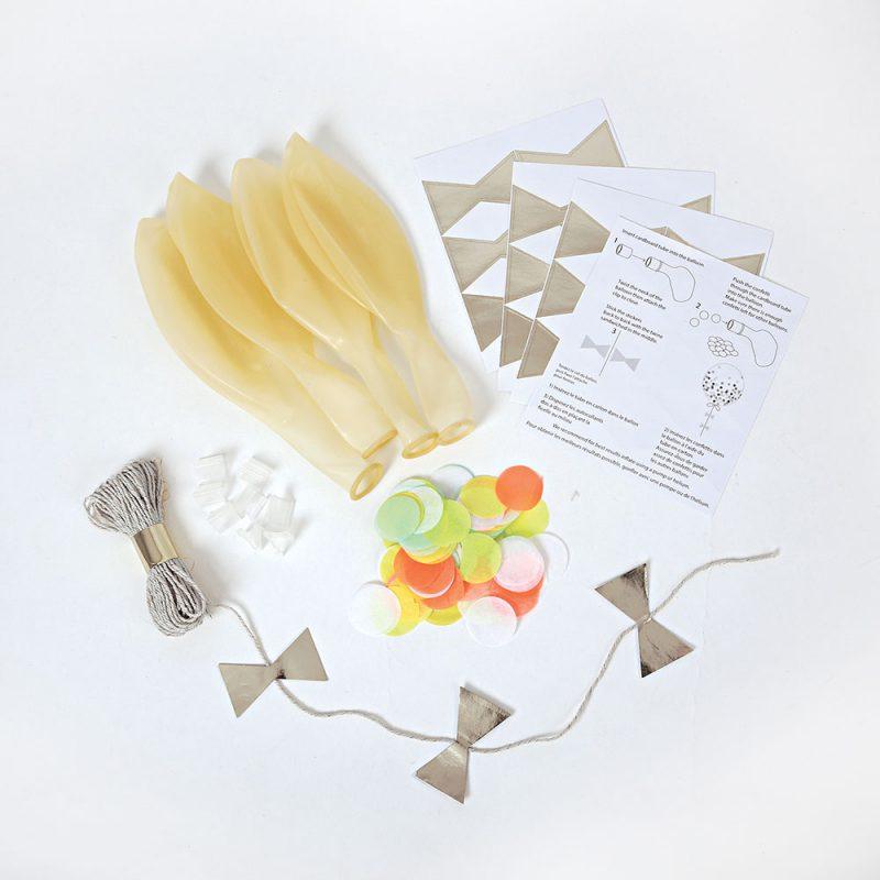 Meri Meri Balony z neonowym konfetti - 8 sztuk - Pan Talerzyk