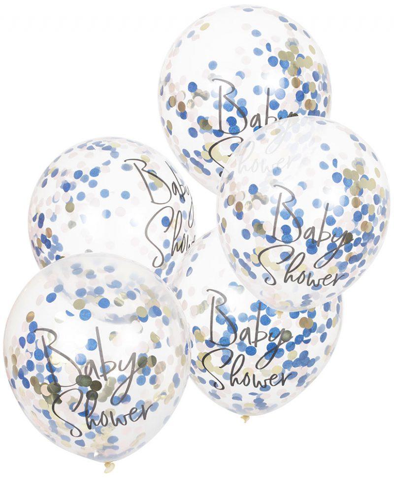 Ginger Ray Bukiet balonów na baby shower - 5 sztuk - Pan Talerzyk