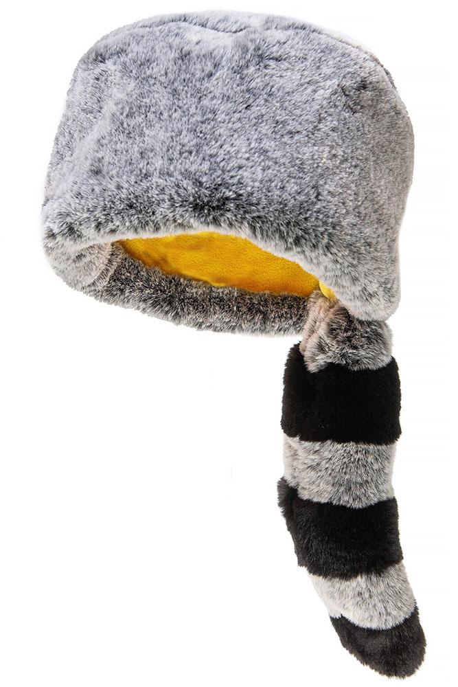 Rockahula Kids Czapka zimowa futerko z ogonem Ronnie Racoon Furry - Pan Talerzyk