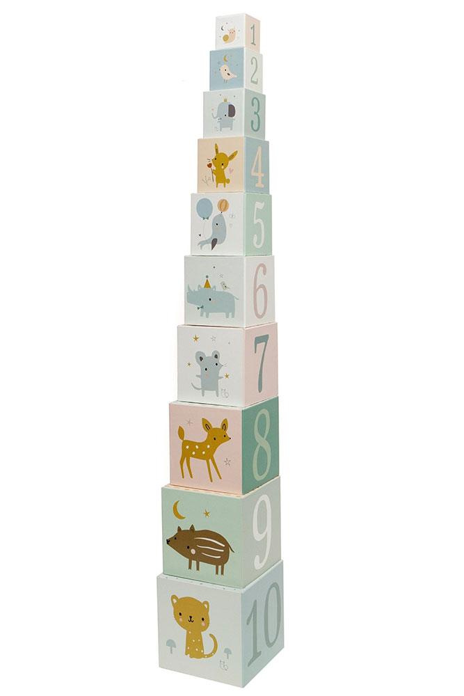Petit Monkey Wieża Forest Friends - 10 elementów - Pan Talerzyk