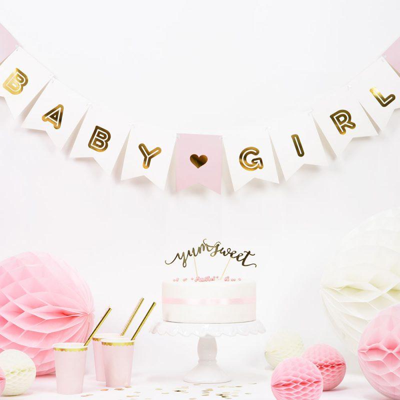 PartyDeco Girlanda Baby Girl - Pan Talerzyk