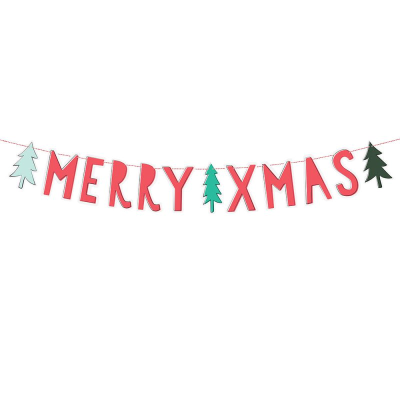 PartyDeco Girlanda Merry Xmas - Pan Talerzyk