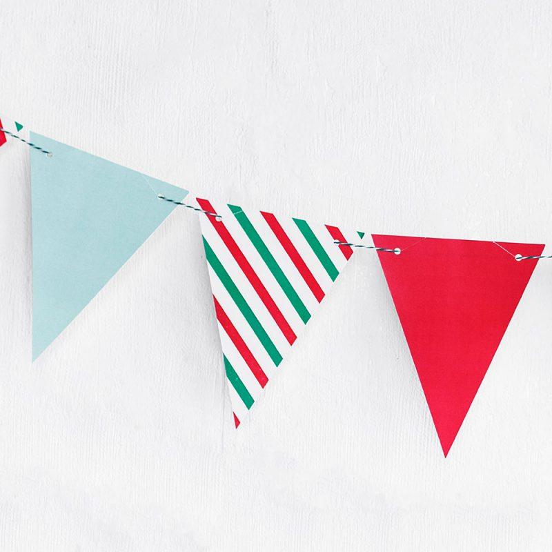 PartyDeco Girlanda flagi Boże Narodzenie - Pan Talerzyk