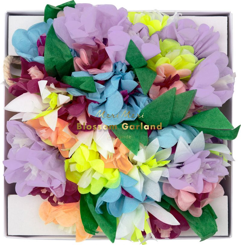 Meri Meri Girlanda liliowe kwiaty - Pan Talerzyk