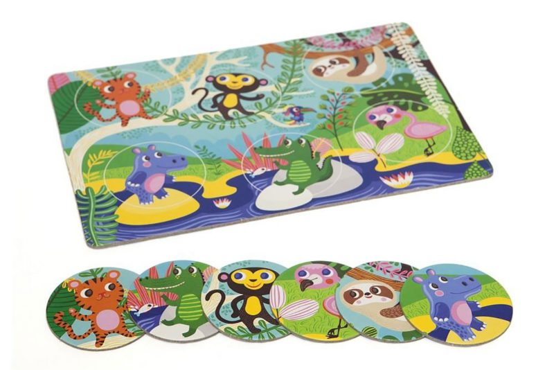 Petit Monkey Gra planszowa Animal Lotto - Pan Talerzyk