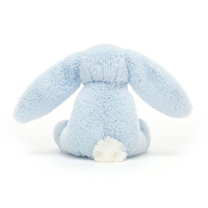 JellyCat Gryzak Bashful królik niebieski 13 cm - Pan Talerzyk