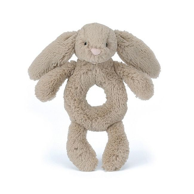 JellyCat Grzechotka królik beżowa 18 cm - Pan Talerzyk