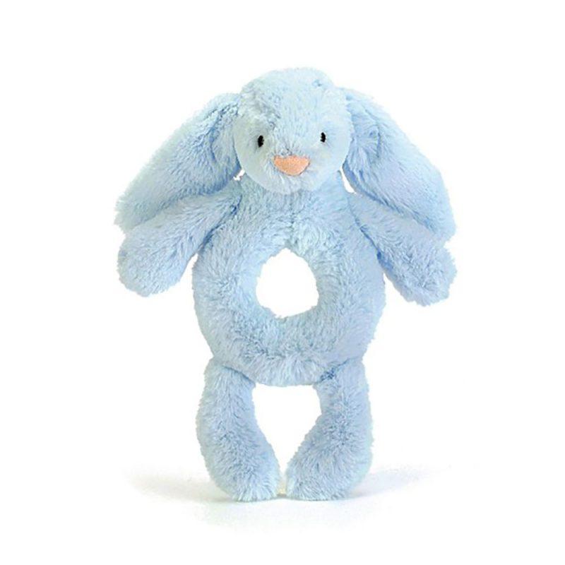 JellyCat Grzechotka królik niebieska 18 cm - Pan Talerzyk