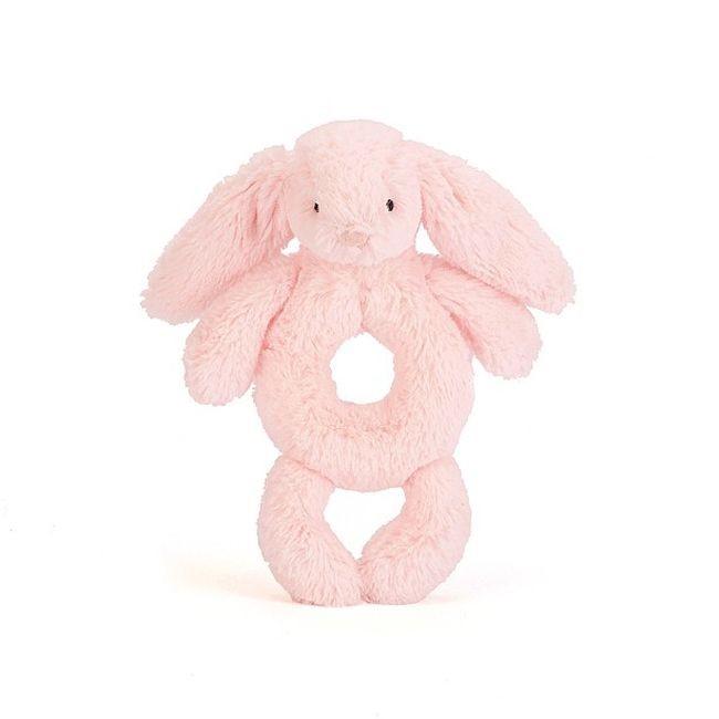 JellyCat Grzechotka królik różowa 18 cm - Pan Talerzyk