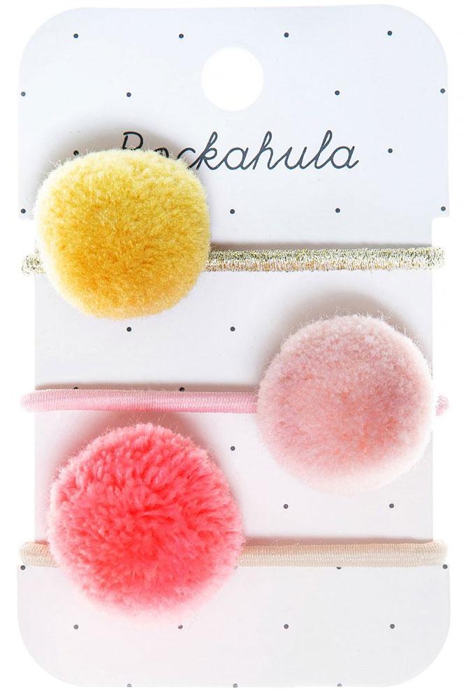 Rockahula Kids Gumki do włosów Pandora Pom Pom Rainbow - Pan Talerzyk
