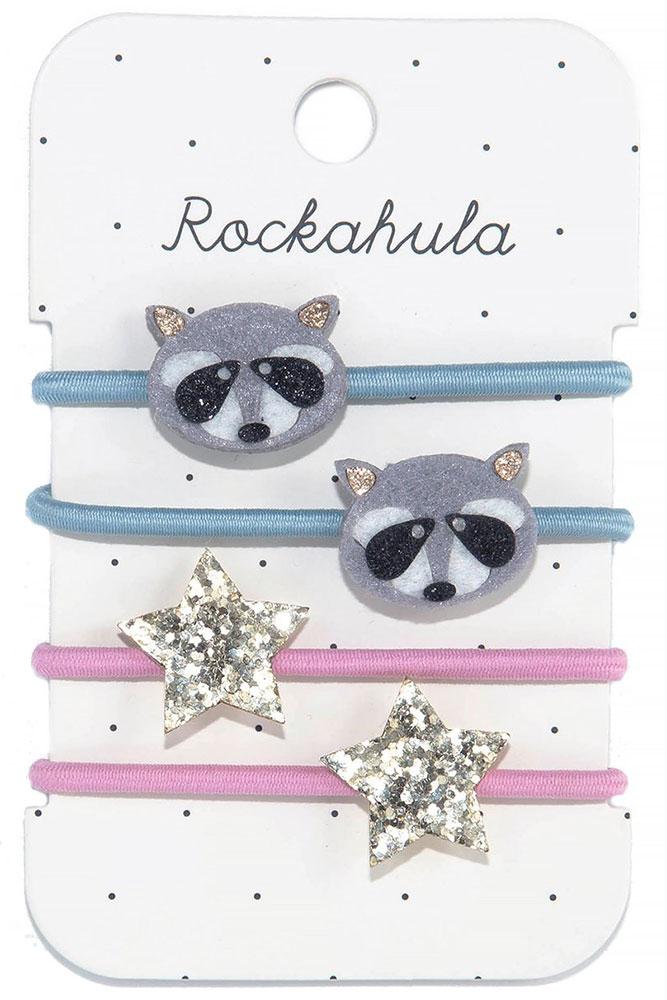 Rockahula Kids Gumki do włosów Ronnie Racoon - Pan Talerzyk