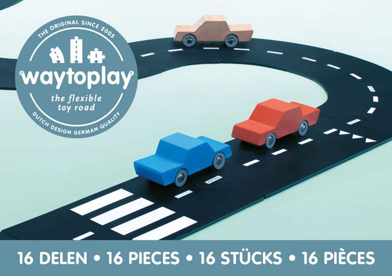 WayToPlay Gumowe tory samochodowe EXPRESSWAY - 16 elementów - Pan Talerzyk