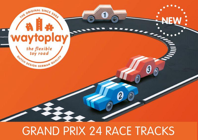 WayToPlay Gumowe tory samochodowe GRAND PRIX - 24 elementy - Pan Talerzyk
