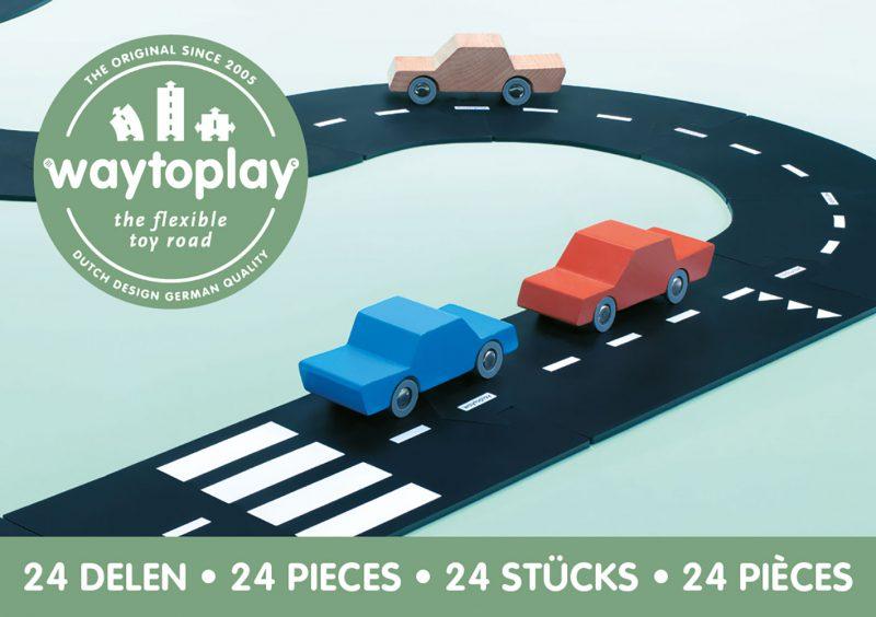 WayToPlay Gumowe tory samochodowe HIGHWAY - 24 elementy - Pan Talerzyk