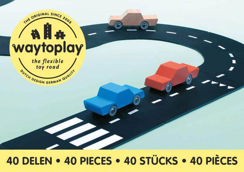 WayToPlay Gumowe tory samochodowe KING OF THE ROAD - 40 elementów - Pan Talerzyk