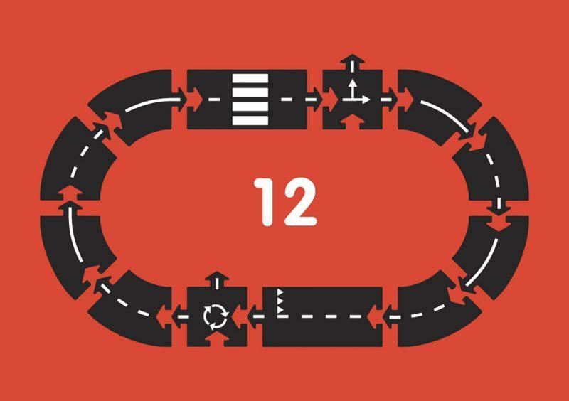 WayToPlay Gumowe tory samochodowe RINGROAD - 12 elementów - Pan Talerzyk