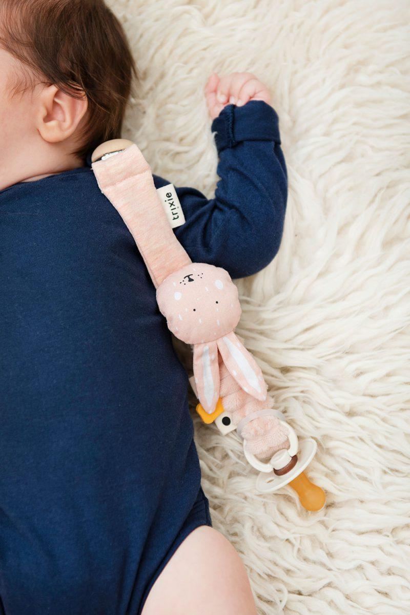 Trixie Baby Klips do smoczka Mrs. Rabbit - Pan Talerzyk
