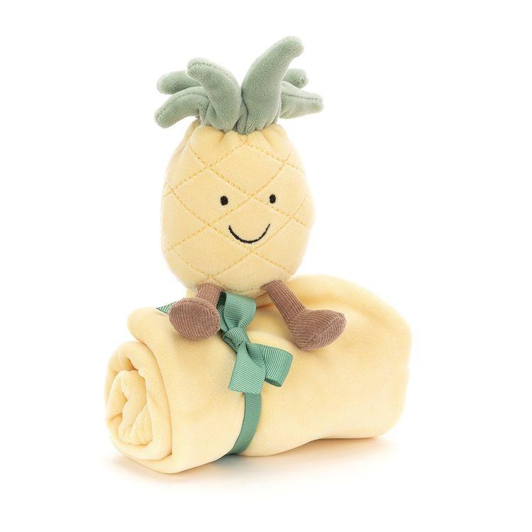 JellyCat Kocyk przytulanka Amuse ananas 34 cm - Pan Talerzyk