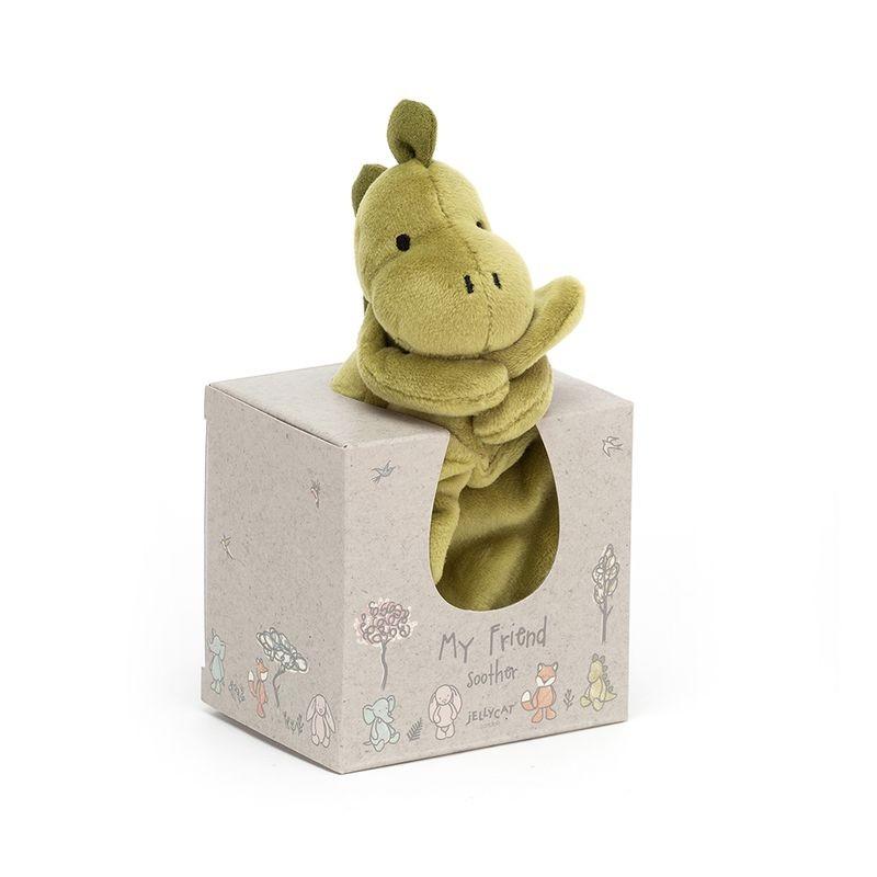 JellyCat Kocyk przytulanka dinozaur 22 cm - Pan Talerzyk