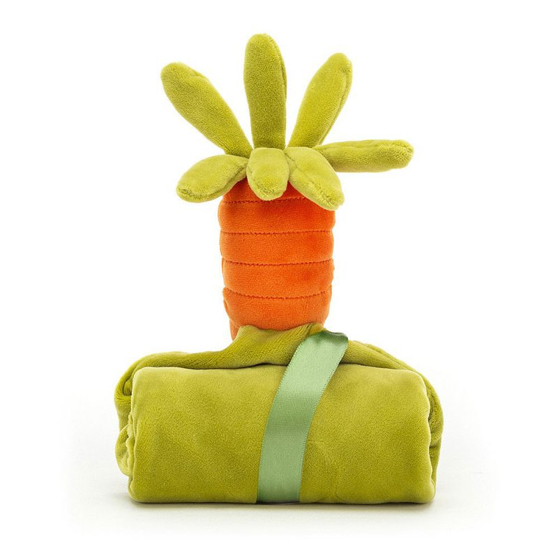 JellyCat Kocyk przytulanka warzywa marchewka 34 cm - Pan Talerzyk