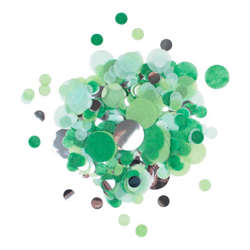My Little Day Konfetti zielone - Pan Talerzyk
