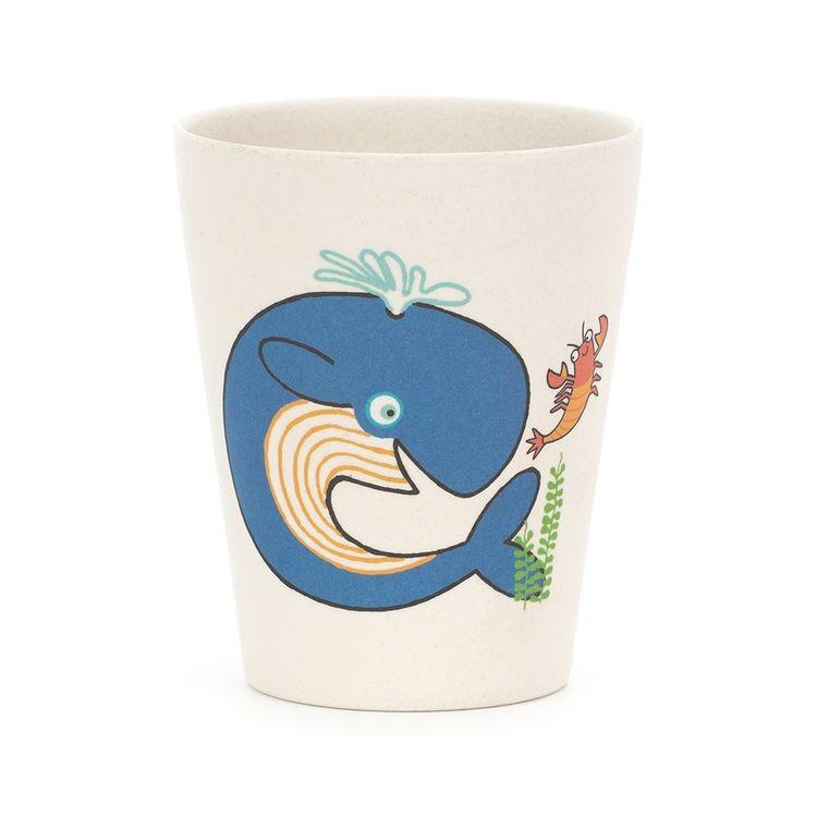JellyCat Kubeczek bambusowy Sea - Pan Talerzyk