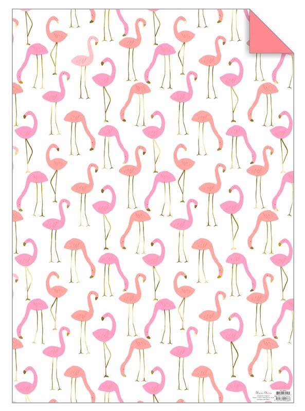 Meri Meri Papier ozdobny-arkusze Flamingi - Pan Talerzyk