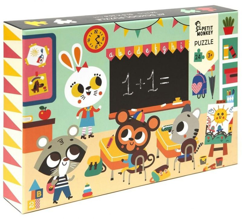 Petit Monkey Puzzle Wesołe zwierzęta - Szkoła - Pan Talerzyk