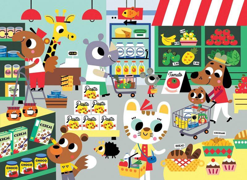 Petit Monkey Puzzle Wesołe zwierzęta - Supermarket - Pan Talerzyk