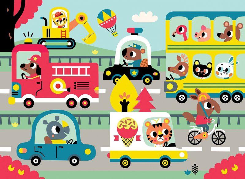 Petit Monkey Puzzle Wesołe zwierzęta - W drodze - Pan Talerzyk