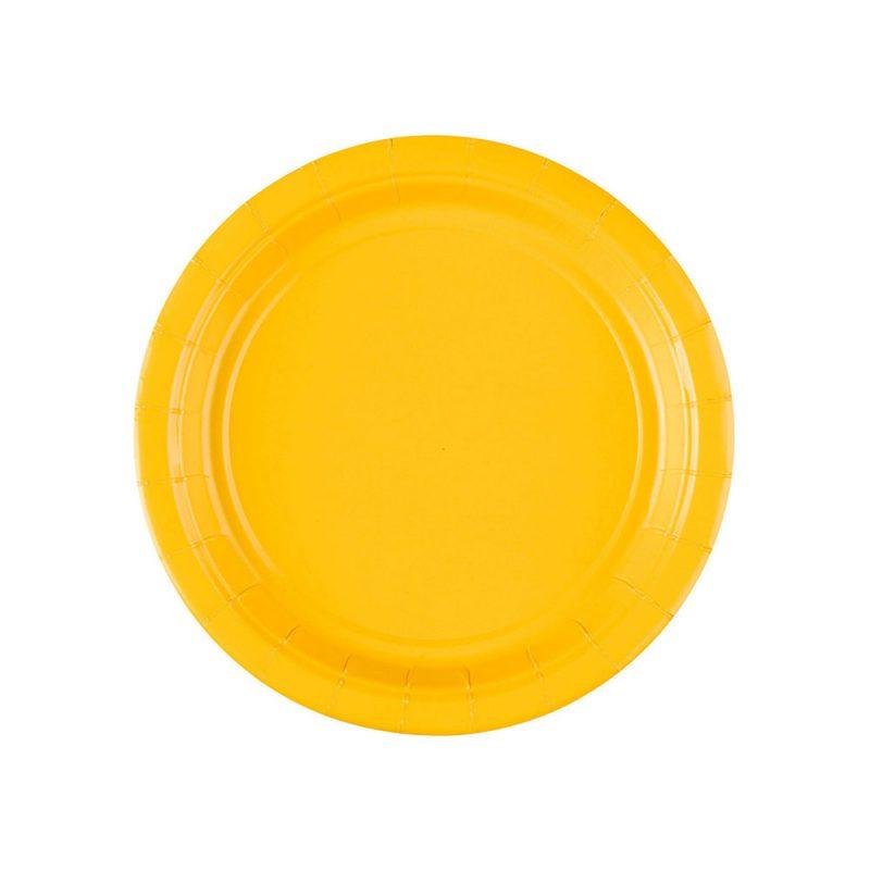 Amscan Małe talerzyki papierowe 8 sztuk - żółte - Pan Talerzyk
