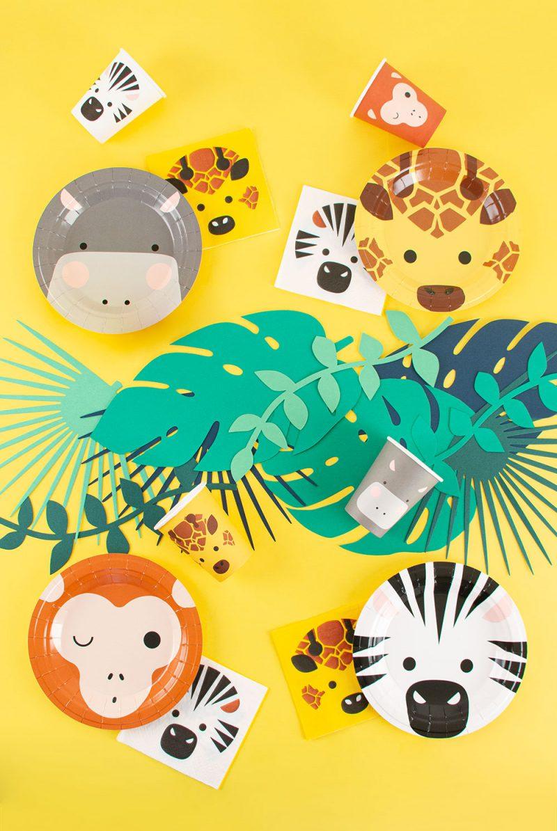 My Little Day Małe talerzyki zwierzęta safari - 8 sztuk - Pan Talerzyk