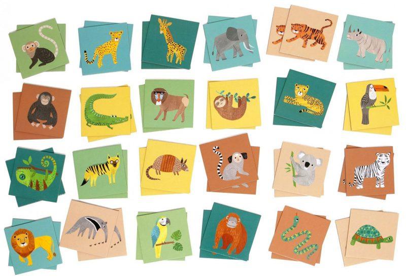 Petit Monkey Memory Jungle Animals - Pan Talerzyk